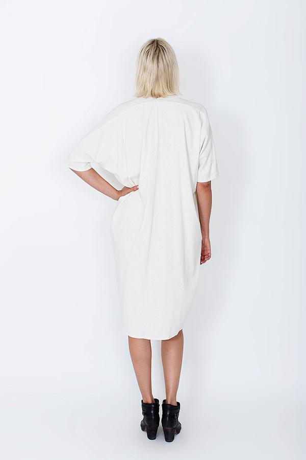 Miranda Bennett Muse Dress, Oversized, Silk in Natural