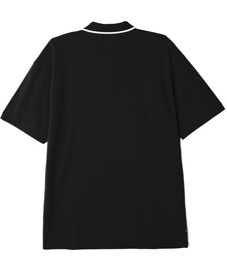 Obey Johnny Zip Polo SS Tee - Black