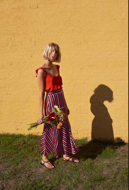 Just Female Mynte Skirt - FieryStripe