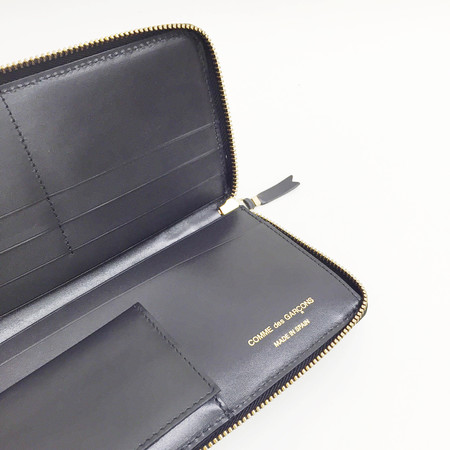 Unisex Comme des Garçons Classic Leather Black Long Wallet