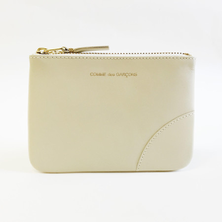 Comme des Garcons - Classic Leather Small Ivory Zip-up Pouch