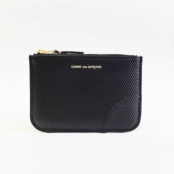 Unisex Comme des Garçons Luxury Group Small Black Zip-up Pouch