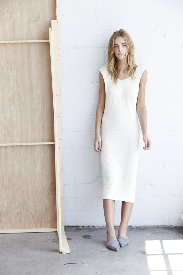 Callahan Nubby Lowback Dress
