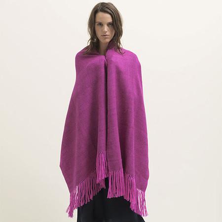 diamond weave alpaca throw