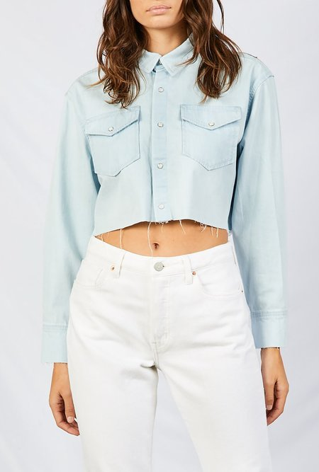 eTica Drew Boyfriend Crop Shirt - Long Beach