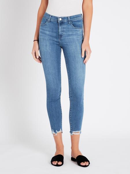 J Brand Alana High Rise Crop Skinny Jean - mid denim