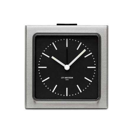 LEFF AMSTERDAM BLOCK CLOCK - Stainless Steel