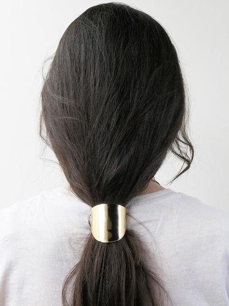 Saskia Diez Oval Hair Tie - Gold