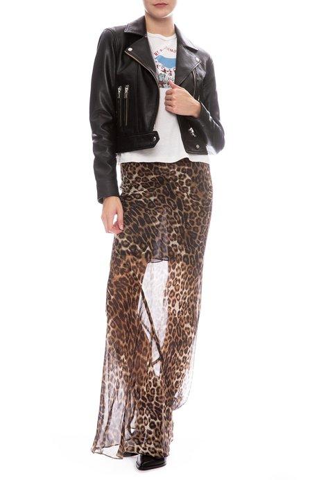 Nili Lotan Ella Print Skirt - Leopard