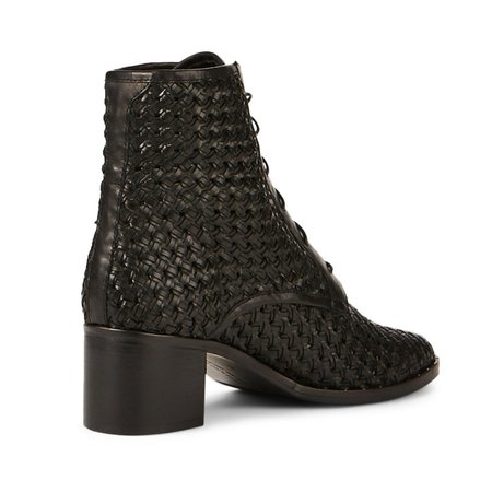 FREDA SALVADOR ACE LACE UP BOOT - BLACK WOVEN