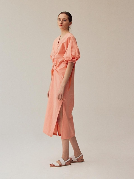 Minnchai Diverse Volume Dress - Summer Coral