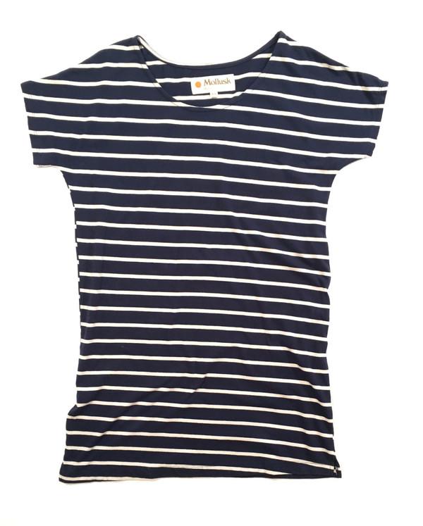 Mollusk Stripe Mini Dress Navy/White