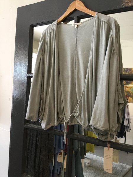 Fresh Laundry Knit Tie Front Shawl - sea glass green