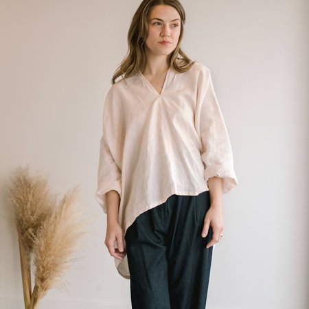 Miranda Bennett Linen Muse Top - Hanging Rock