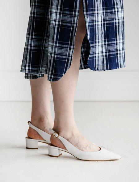 Mansur Gavriel Slingback Heel - White