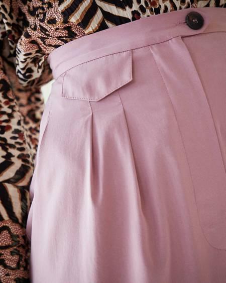 Nanushka ASHA Pleat front cigarette pants - Dusty pink