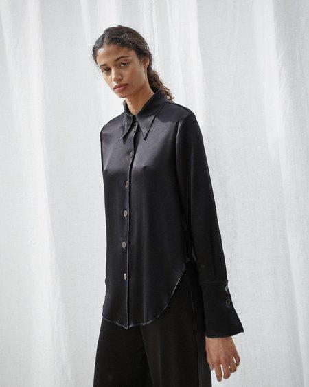 Nanushka MANDINE Retro shirt - Black