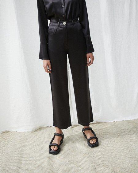 Nanushka MARFA Wide leg satin pants - Black