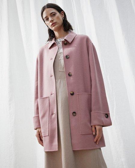 Nanushka MARZY Wool shirt coat - Dusty pink