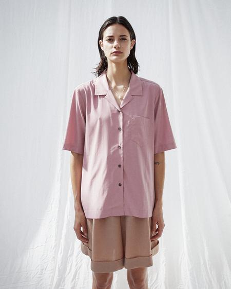 Nanushka NARAZ  Camp shirt - Dusty pink