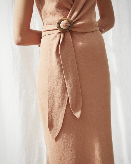 Nanushka SUBAH Terry knit wrap dress - Caramel