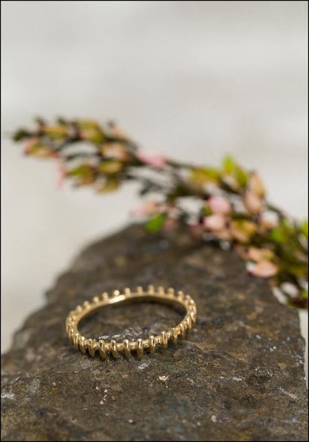 Lio and Linn Gate Eternity Ring - 14KT Gold