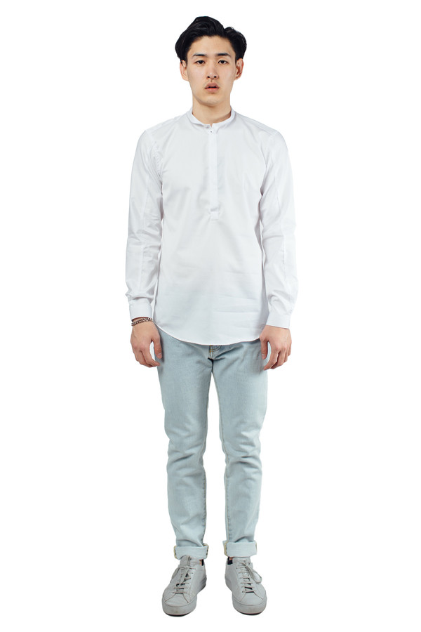 Men's Journal Drain Shirt White