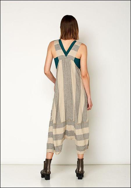 Lurdes Bergada Full Leg Overall - Striped