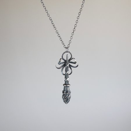 Arcana Obscura Inverted Torch Necklace - Silver