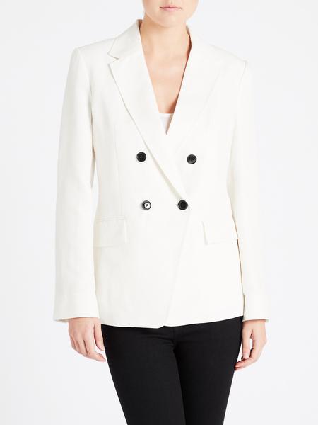 Frame Denim Double Boyfriend Blazer - Suiting White