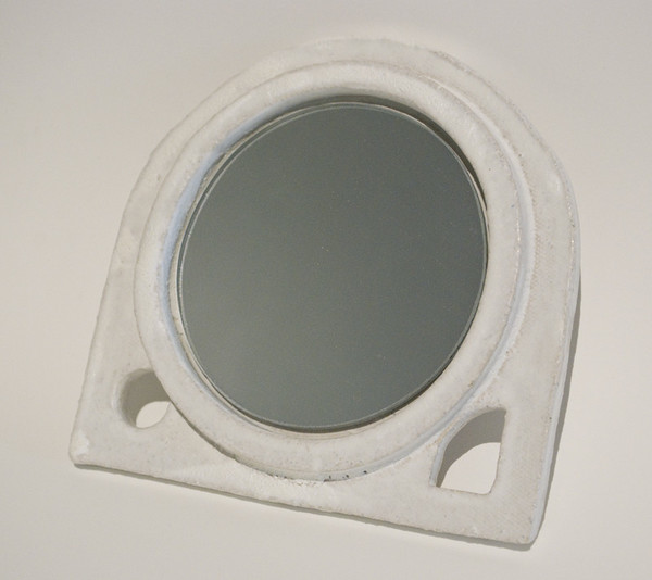 Handheld Vanity Mirror - Frosted White