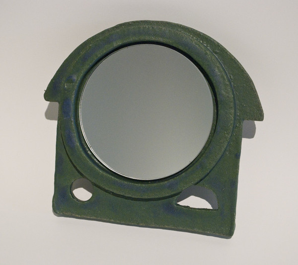 Morgan Peck Handheld Vanity Mirror - Matte Green