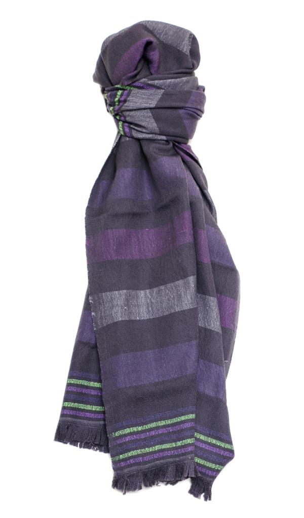 Zimeta scarf in lilac by Lem Lem