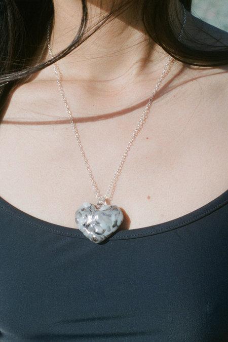 Forme & Sens Mosaic Glass Heart Pendant