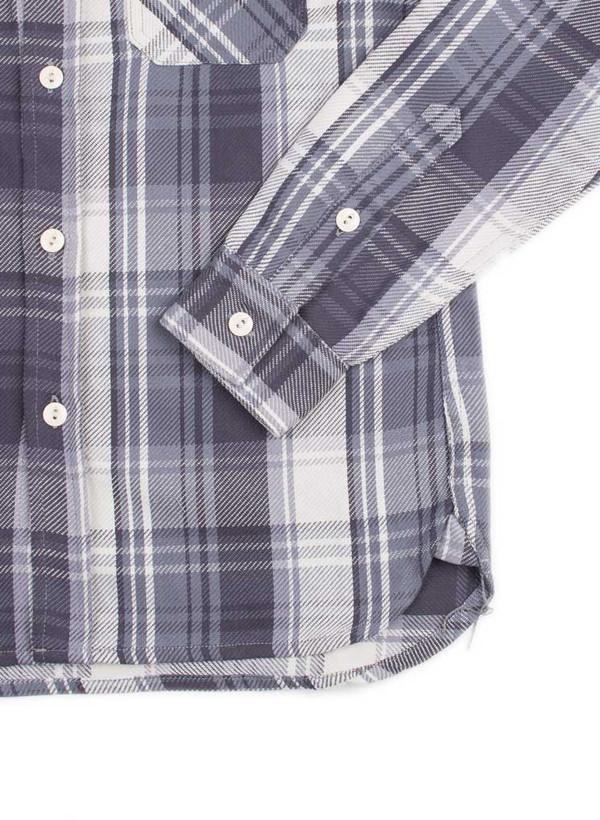 Men's 3Sixteen Flannel Workshirt SS16 Purple Check