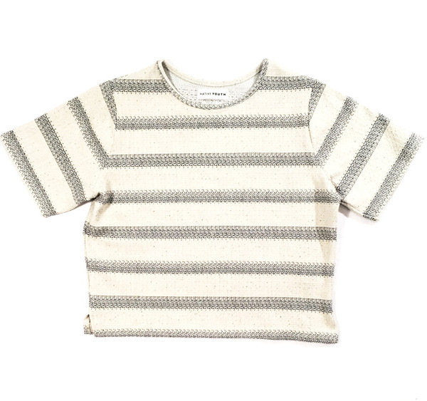 Native Youth Textured Stripe Top