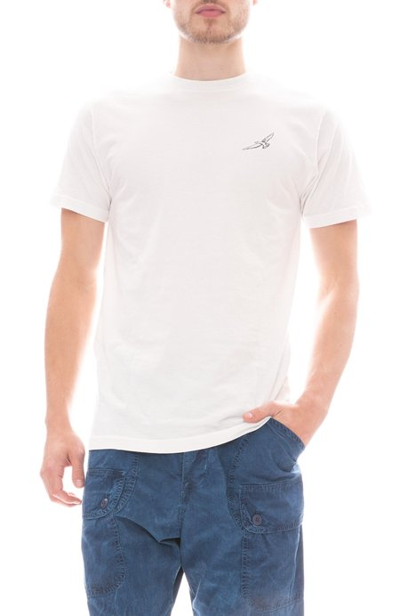 FREEDOM ARTISTS Embroidered Flight T-Shirt - vintage white