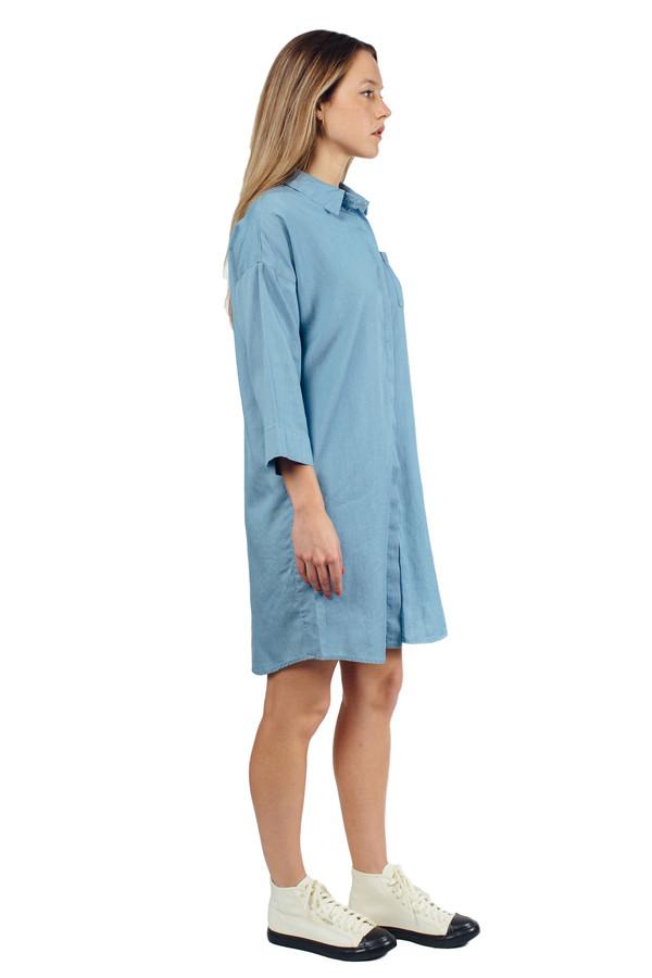 WU+SEN Lowe Chambray Shirt Dress