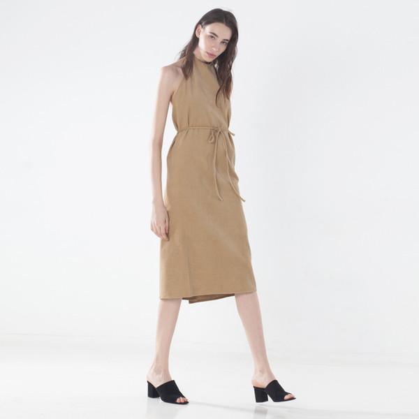 Baserange Corduroy Apron Dress