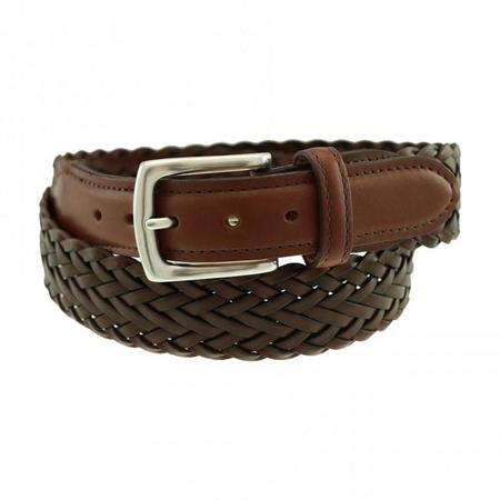 Totem Brand Co. T.B Phelps Maxwell Braided Leather Belt - Briar Brown