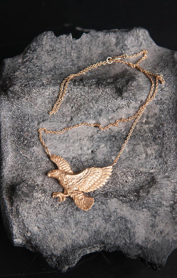 Love Rocks Eagle Necklace