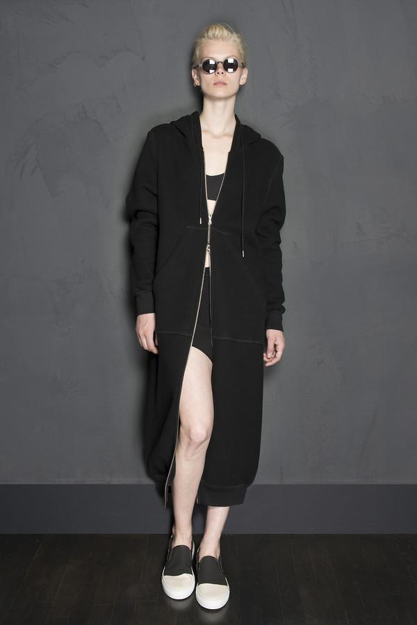 KES Oversized Full Length Fleece Lined Hoodie