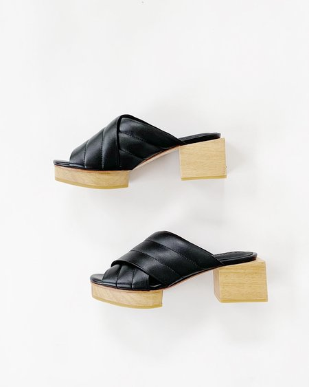 Beklina Matisse Criss Cross Platform Slide - Black