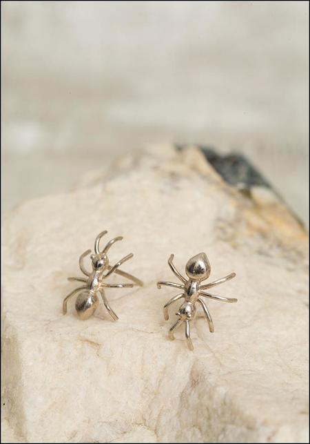 De La Rosa Ant Stud Earrings - Sterling Silver