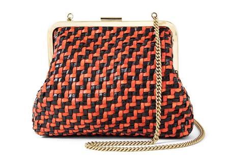 Clare V. Flore bag - Black/red zig zag