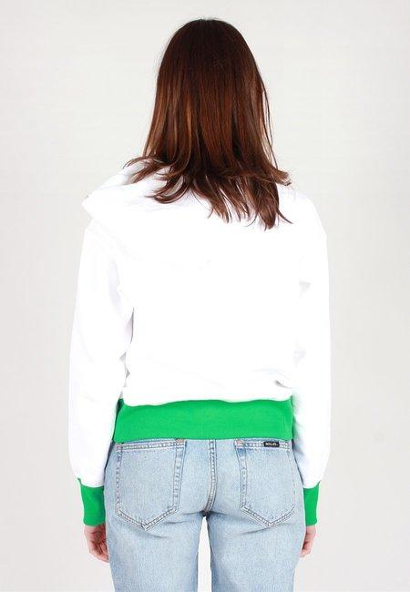Champion Europe Reverse Weave Bi-Colour Hoodie - White/Green