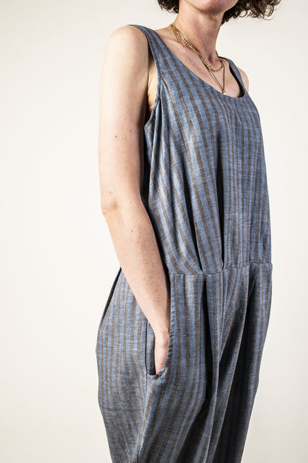 F O L D Jumpsuit - Navy Stripe