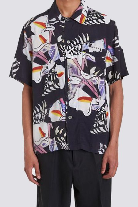 Our Legacy Crushed Tiles Box Short Sleeve shirt - multi