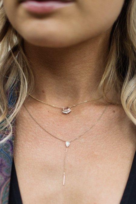 Marrow Fine Lariat - 14k Gold/Stillwater Opal