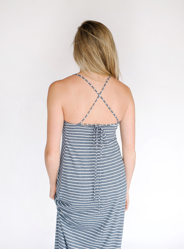 Bella Luxx Quito Stripe Low Back Maxi